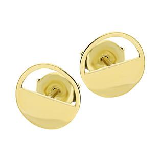 Kolczyki złote kółko pół blask pół ramka/sztyft LP 53U225-MSE0040-Y próba 375
