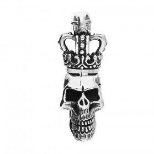 Zawieszka srebrna w kształcie czaszki w koronie nr NI XX32 próba 925