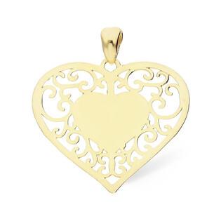 Serduszko złote serce ażurowa oprawa nr AR XP10331 GS Au 333 Sezam - 1