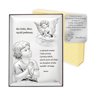 Art.Dekoracyjne obrazek Anioł Śtroż-modlitwa WJ 31300-2X