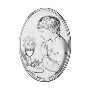 Art.Dekoracyjne obrazek Komunia Ch. Oval napis WJ DS05-2O
