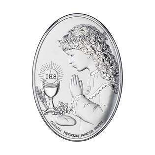 Art.Dekoracyjne obrazek Komunia Dz. Oval napis WJ DS05-2A