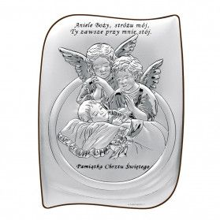 Art.Dekoracyjne obrazek Aniołki nad Dz.AnieleBoż WJ 6581S-2X