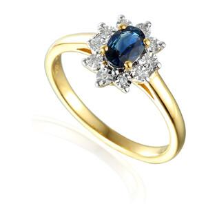 Pierścionek złoty z diamentami Kate Magic próba 585 MARKIZA