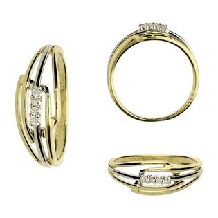 Pierścionek zareczynowy z diamentami nr BU 536720-736435 próba 375