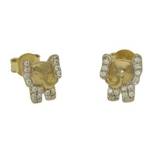 Kolczyki słonie cyrkonie/sztyft CA SZ-023 próba 585