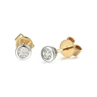 Kolczyki złote JUBILE Star z diamentem AW 67562 Y-0,04