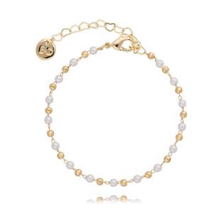 Bransoleta pozłacana z perełkami OLIVIA A1 BOA0001
