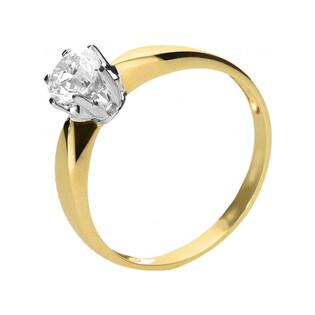 Pierścionek zaręczynowy typu ROYAL Magic z diamentem tz168 próba 585 Sezam - 1