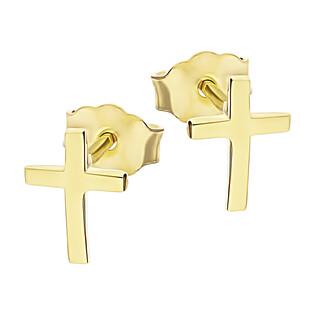 Kolczyki złote krzyżyk blask MZ T23-EP-0104 próba 375