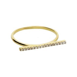 Pierścionek złoty z cyrkoniami nr MZ R52 próba 585