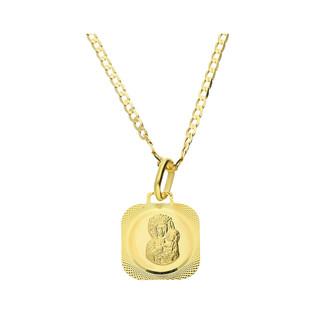 Złoty medalik MB Częstochowska z dopasowanym łańcuszkiem M2 M-0830+GAXPDE 0+1 040 próba 585