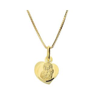 Złoty medalik MB Częstochowska z dopasowanym łańcuszkiem M2 M-0832+VEDCO 050 9K próba 333