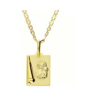 Złoty medalik MB Częstochowska z dopasowanym łańcuszkiem M2 M-1231+FPBCGDE 040 9K próba 333