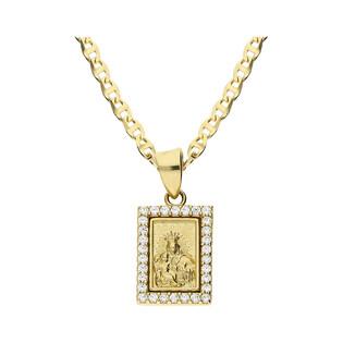 Złoty medalik Szkaplerz z dopasowanym łańcuszkiem M2 X7-X7ZP0196+FPBCGDE 050 próba 585
