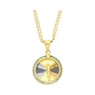 Złoty medalik Pan Jezus z dopasowanym łańcuszkiem M2 51U0-STP0011-1-TC+GAXPDE 050 próba 375