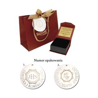Medalik z łańcuszkiem M2 017KU1800050+SPG3D 022 próba 585