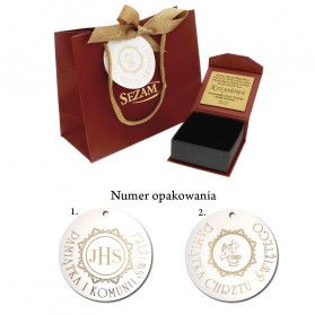 Medalik medalik z łańcuszkiem M2 M-0529-M-08+RDOV 040 próba 585
