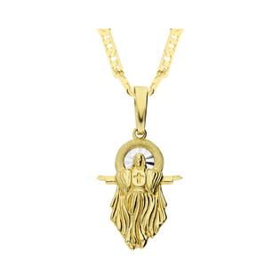 Złoty medalik Pan Jezus z dopasowanym łańcuszkiem M2 XXP211055-YW-FL+RBPDECO 065 próba 333