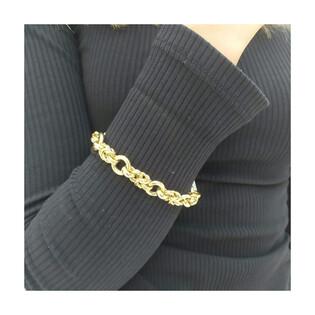 Bransoleta złota kółka splot królewski AR XHOB10900 próba 585