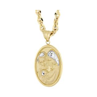 Złoty medalik św. Rodzina z dopasowanym łańcuszkiem M2 27U23-DP0002-YW-DC+IRIDE 050 próba 585