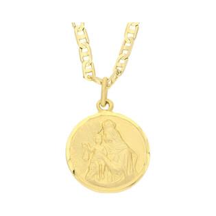 Złoty medalik Szkaplerz z dopasowanym łańcuszkiem M2 BC3-1+RBPDECO 080 próba 585
