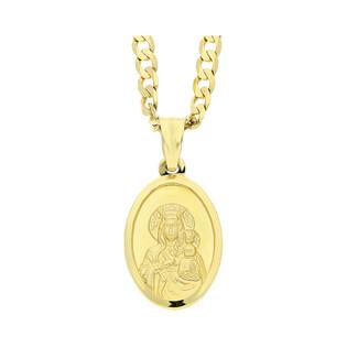 Złoty medalik MB Częstochowska z dopasowanym łańcuszkiem M2 DJ107+GAXPDE 0+1 080 próba 585