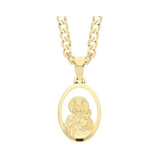 Złoty medalik MB Częstochowska z dopasowanym łańcuszkiem M2 DJ108+GAXPDE 0+1 080 L50