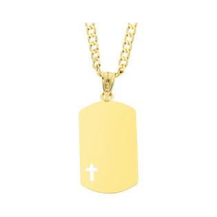 Złoty medalik z wyciętym krzyżykiem z dopasowanym łańcuszkiem M2 LKP1682-II+GAXPDE 0+1 065 próba 585