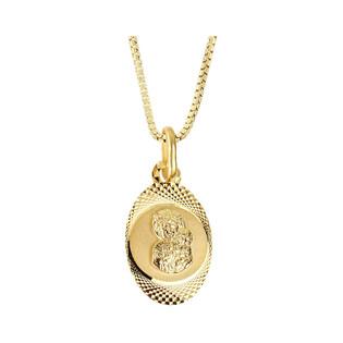 Złoty medalik MB Częstochowska z dopasowanym łańcuszkiem M2 M-0588+VEDCO 058 próba 585