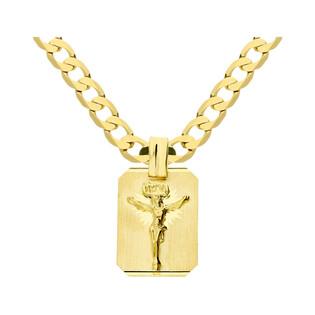 Złoty medalik blaszka Pan Jezus z dopasowanym łańcuszkiem M2 M-0638+GAXPDE 0+1 140 próba 585