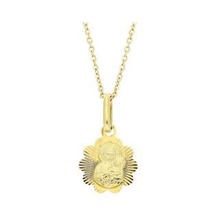 Złoty Medalik MB Częstochowska z dopasowanym łańcuszkiem M2 M-0834+RDOV 025 9k