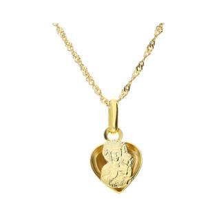 Złoty medalik MB Częstochowska z dopasowanym łańcuszkiem M2 M-1216m+G2SIN 017 9K próba 333