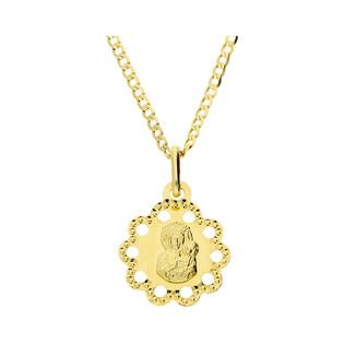 Złoty medalik MB Częstochowska z dopasowanym łańcuszkiem M2 M-1255+GAXPDE 0+1 040 L50 próba 585