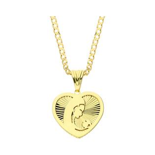 Złoty medalik MB z Dzieciątkiem z dopasowanym łańcuszkiem nr M2 MYP-11+GAXPDE 0+1 050 L50 próba 375