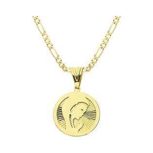 Złoty medalik MB główka Modląca z łańcuszkiem M2 MYP-17+GAXPDE 1+3 050 L50 próba 375