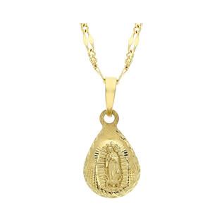 Złoty medalik MB z Guadalupe z dopasowanym łańcuszkiem M2 VX3KP11005+GADEBC 1+3 040 9K próba 333