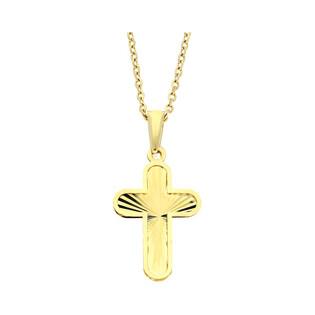 Złoty krzyżyk łaciński z dopasowanym łańcuszkiem M2 T23-P-0218-36-LZ+RDOV 030 próba 585