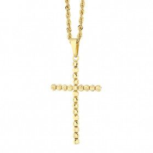 Złoty krzyżyk łaciński z dopasowanym łańcuszkiem nr M2 X3DCBCP3292+V-CORDALAS 040 próba 585