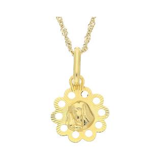 Medalik medalik z łańcuszkiem M2 M-0651+G2SIN 017 9K próba 333