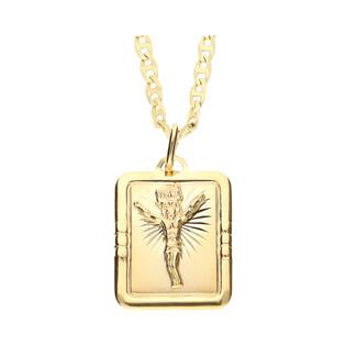 Medalik medalik z łańcuszkiem M2 M-0637+RBPDECO 065 próba 585