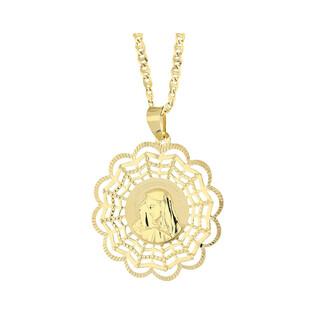Złoty medalik MB Bolesna z dopasowanym łańcuszkiem M2 M-0707+FPBCGDE 080 próba 585