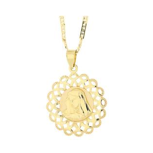 Złoty medalik MB Bolesna z dopasowanym łańcuszkiem M2 M-0708+RBPDECO 065 próba 585