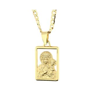 Złoty medalik MB Częstochowska z dopasowanym łańcuszkiem M2 SF12-1+GAXPDE 0+1 080 próba 585