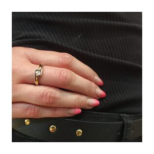 Pierścionek zaręczynowy z diamentem BRAID Magic KU 3913 próba 585