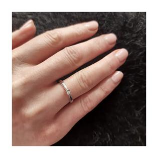 Pierścionek zaręczynowy z diamentem SOLITER Magic nr. KU 4313 białe złoto próba 585