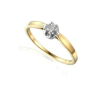 Pierścionek zaręczynowy z diamentem FLOWER Magic AW 55114 YW próba 585 Sezam - 1