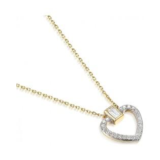 Naszyjnik złoty kolekcja Happy diamond z diamentami nr AW 05780 Y Sezam - 1