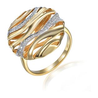 Pierścionek z diamentami AW 31868 YW próba 585