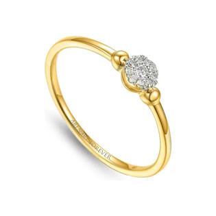 Pierścionek złoty SWEET z diamentami AW 64386 Y próba 585